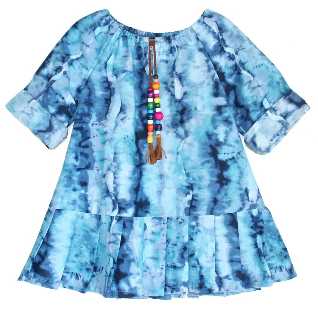 Tie-Dyed Pleated Dress