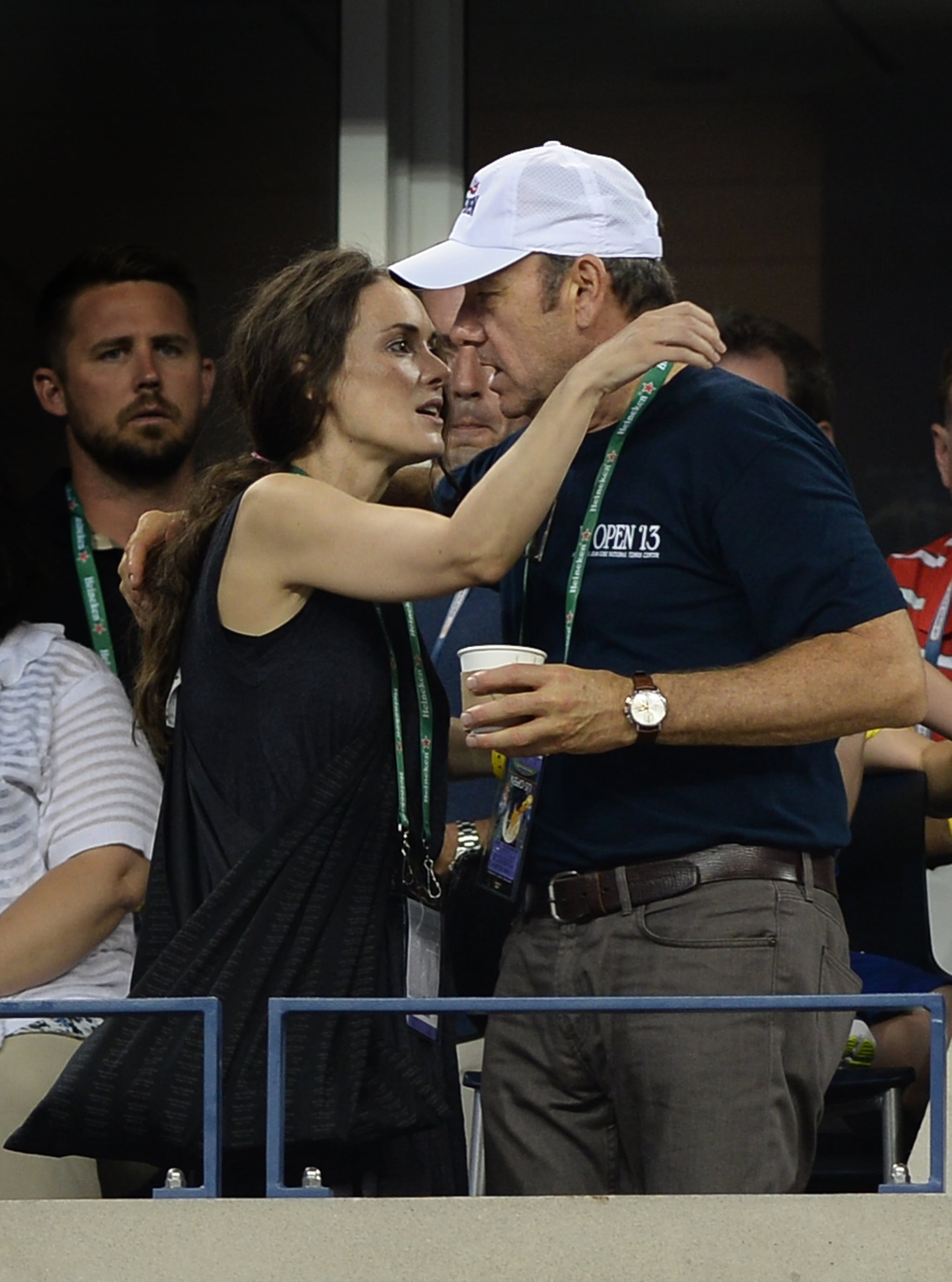 Winona Ryder and Kevin Spacey had a moment at the US Open.