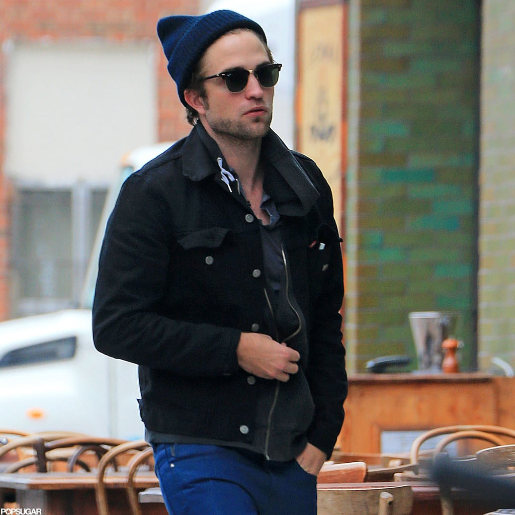 Robert Pattinson walked into the Bowery Hotel in NYC.