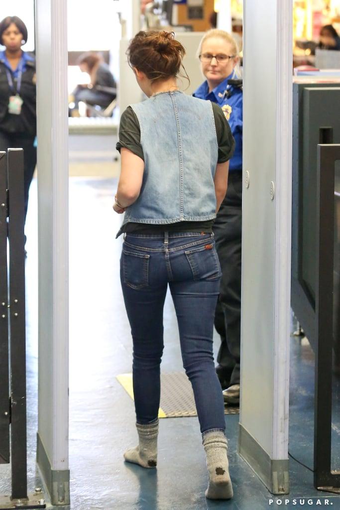 Kristen Stewart Jets Off to Sundance in Style