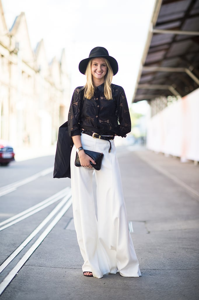 One part Annie Hall, one part totally on-trend in black and white. Source: Le 21ème | Adam Katz Sinding