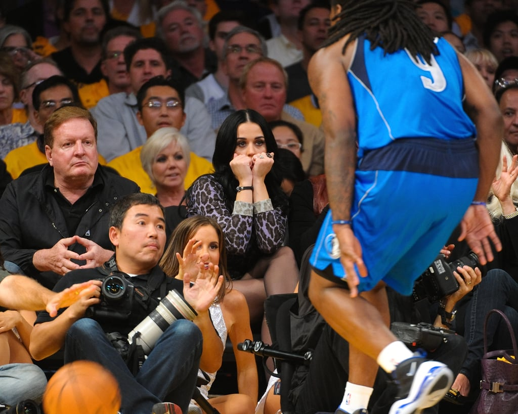 Katy Perry watched the Lakers.