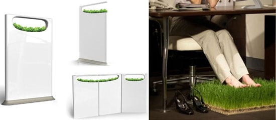 Concept Breathing Partition Brings Your Office to Life With Grass