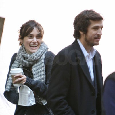 Keira Knightley and Guillaume Canet On The Set of Last Night