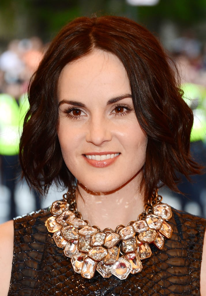 Michelle Dockery wowed with a jeweled neckline.