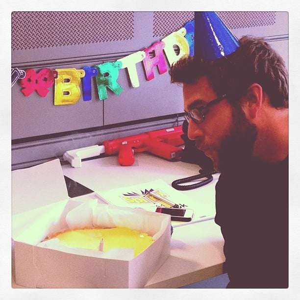 We wished our technology manager Ben a very happy birthday!