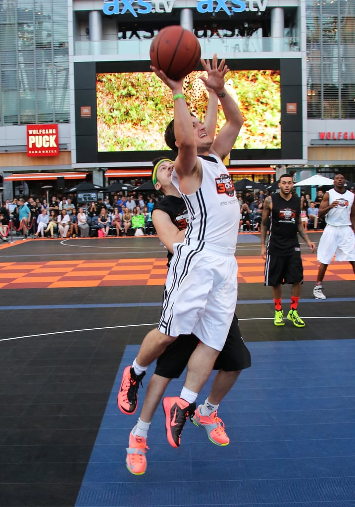Josh Hutcherson put his skills to the test at his third annual Celebrity Basketball Game in LA on Friday.