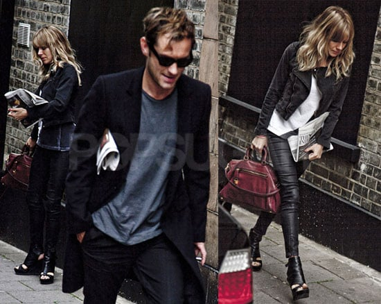 Pictures of Sienna Miller and Jude Law Looking Serious in London