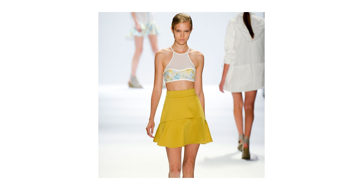 Richard Chai Love Spring 2013: Crop Tops, Prints, and GoldLamé