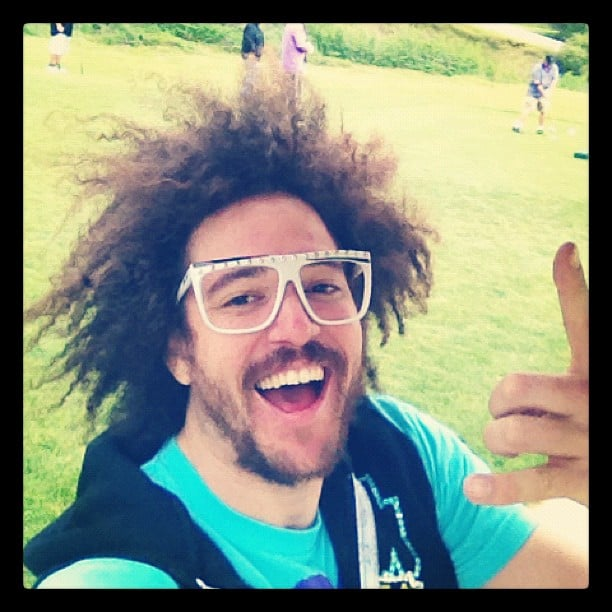 LMFAO's RedFoo posted a photo from the golf course.  Source: Instagram user redfoo