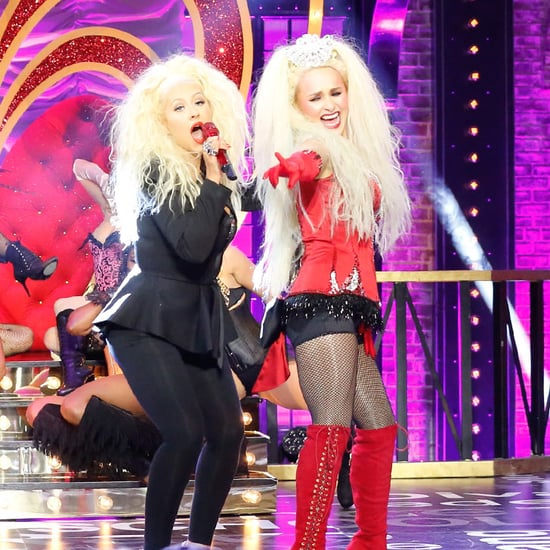 Hayden Panettiere and Eva Longoria on Lip Sync Battle