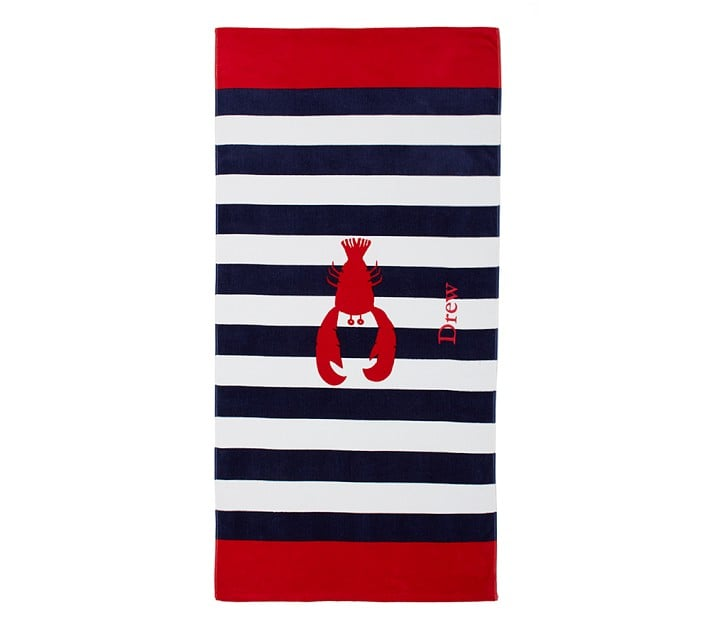 Pottery Barn Kids Lobster Beach Towel