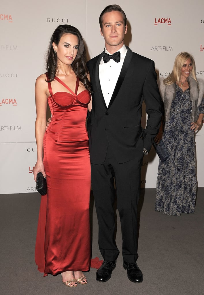 Armie Hammer and wife Elizabeth Chambers.