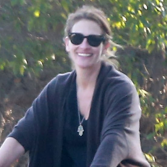 Julia Roberts and Daniel Moder on a Family Bike Ride