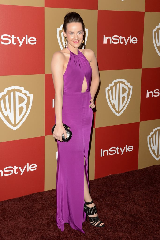 Jena Malone took on the colour fuchsia — and some sexy cut-outs — at the InStyle party.