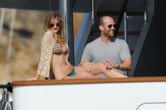 Pictures of Rosie Huntington-Whiteley in a Bikini Making Out on a Yacht With Jason Statham