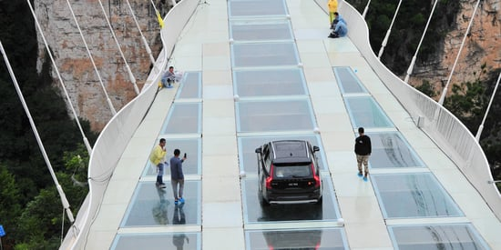 This Glass Bridge in China Is So Strong You Can Drive an SUV On It
