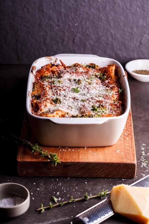 Vegetarian Lasagna With Basil and Ricotta