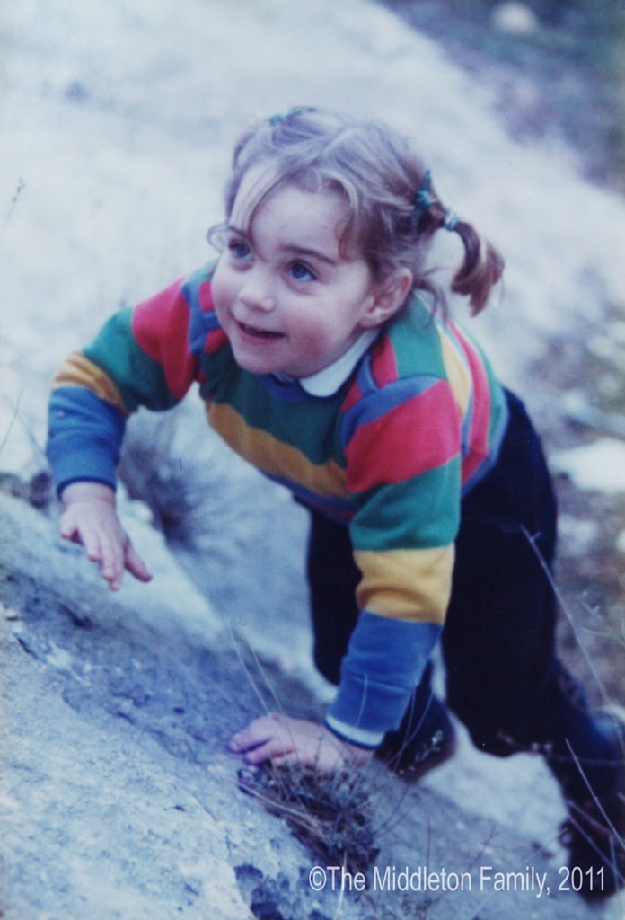 Three-year-old Kate climbed a hill at the Lake District in Northwest England.