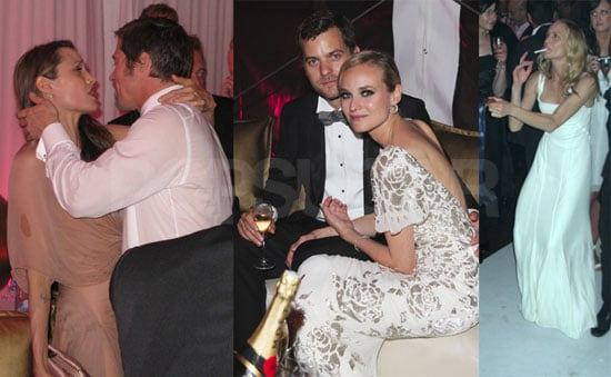 Photos of Brad Pitt, Angelina Jolie, Diane Kruger, Joshua Jackson, at the Inglourious Basterds Afterparty in Cannes