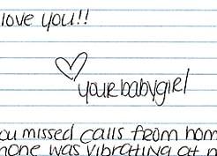 Babygirl Writes Babyboy a Love Letter
