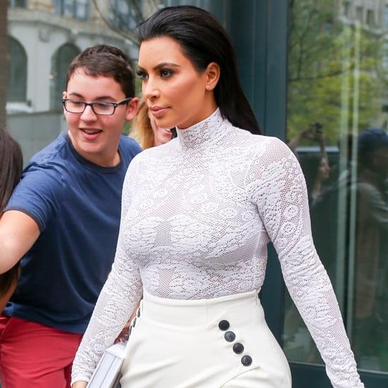 Kim Kardashian Wearing White Outfit For Book Signing