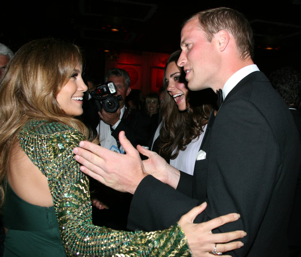 Prince William and Kate Middleton with Jennifer Lopez at the BAFTA Brits to Watch event in LA.