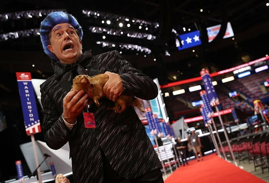 Stephen Colbert Infiltrated The RNC Dressed As 'The Hunger Games's' Caesar