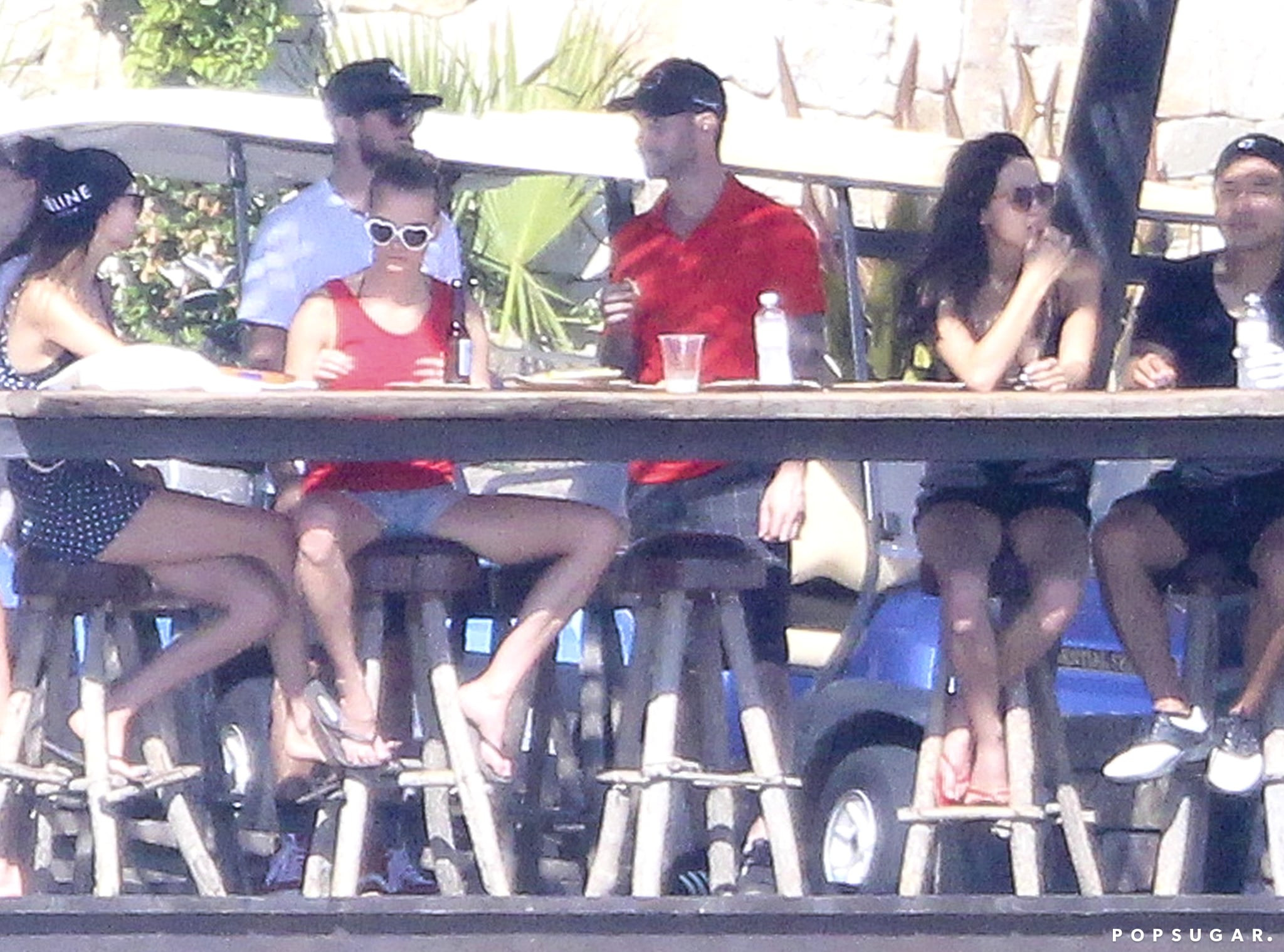 Adam Levine and Behati Prinsloo spent time with friends in Mexico.
