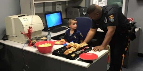 Boy Buys Sandwiches For Police Using Hard-Earned Allowance