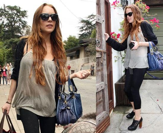 Lindsay Lohan Leaving Samantha's House