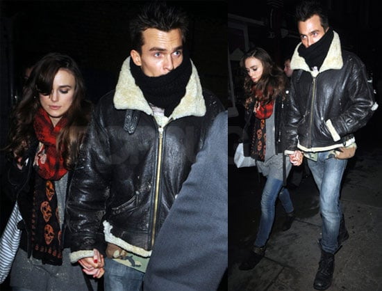 Photos of Keira Knightley And Rupert Friend Leaving Dinner in London