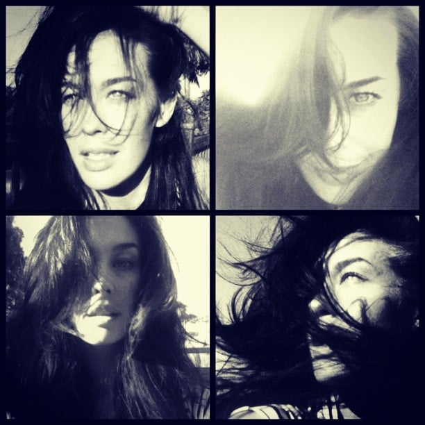 Megan Gale modelled the results of a new haircut. Source: Instagram user megankgale