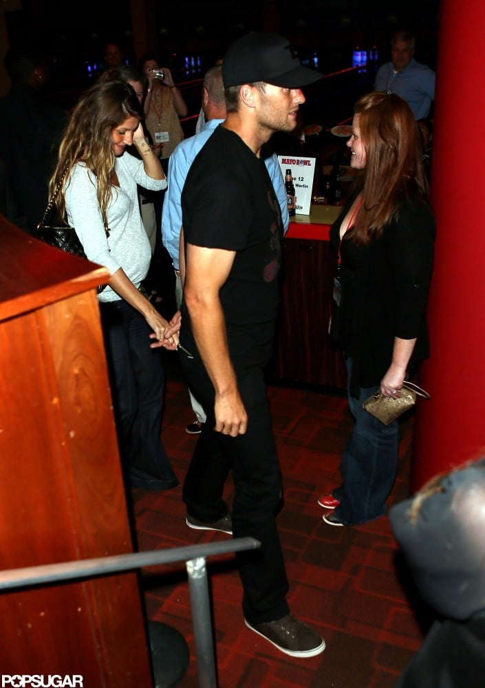 Gisele Bündchen and Tom Brady held hands at a bowling alley in Boston in September.