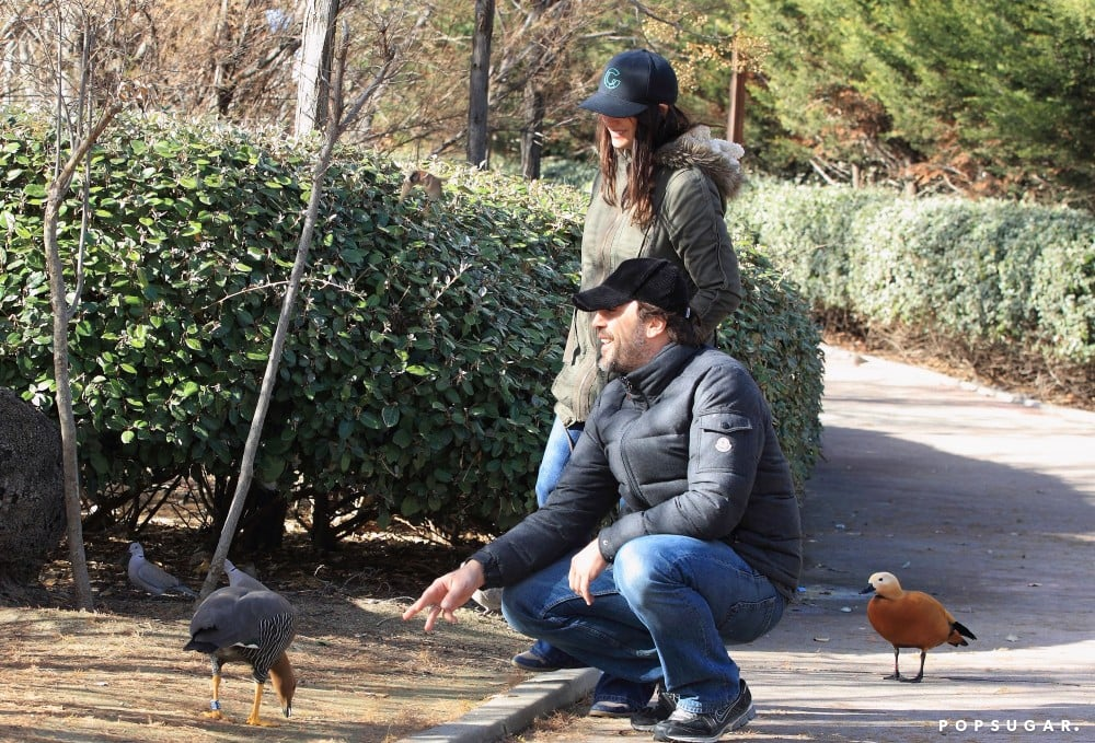 The couple took time out to feed the ducks in Madrid in January 2013.
