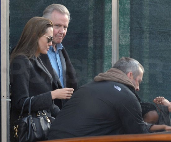 Slide Photo of Jon Voight and Angelina Jolie Together in Venice
