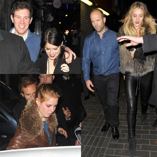Pictures of Rosie Huntington-Whiteley, Jason Statham, Princess Beatrice, Princess Eugenie at The Box in London