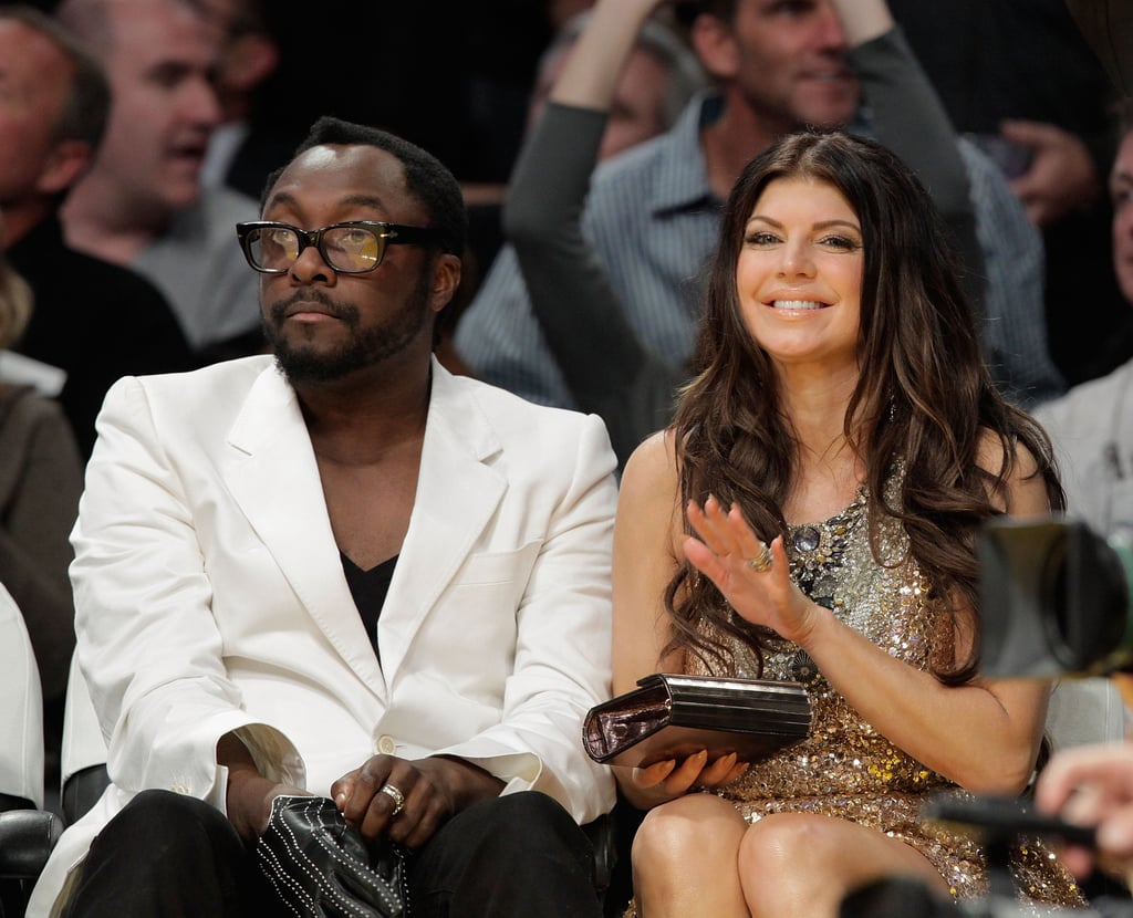 Fergie took in a Lakers game with her Black Eyed Peas bandmate Will.i.iam in November 2009.