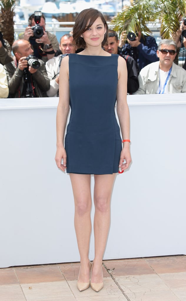 Marion Cotillard in Antonio Berardi at the photocall for her film Blood Ties in Cannes.
