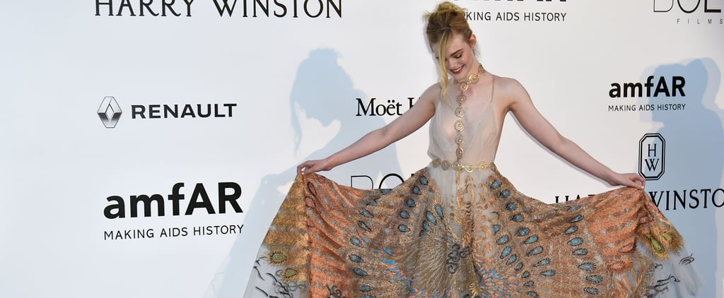 Elle Fanning Is Peacocking Her Way Through Cannes in This Gown
