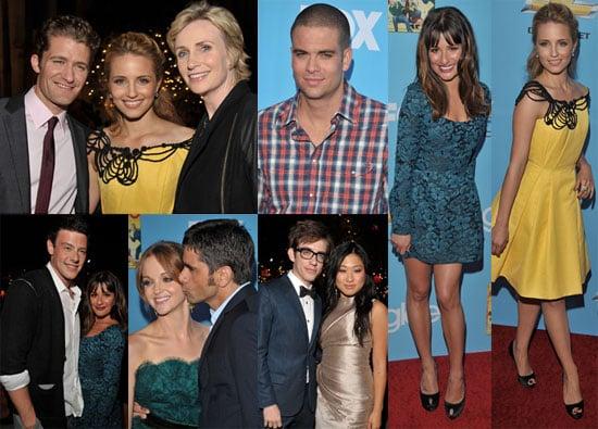 Photos de Lea Michele, Chris Colfer, Jane Lynch, Matthew Morrison, et des acteurs de Glee a l avant premiere de la saison 2