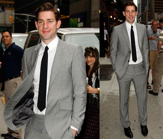 Photos of John Krasinski Heading to Late Night With David Letterman