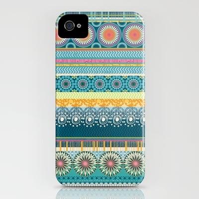 Blue Streaks by Amanda Dilworth Smartphone Case