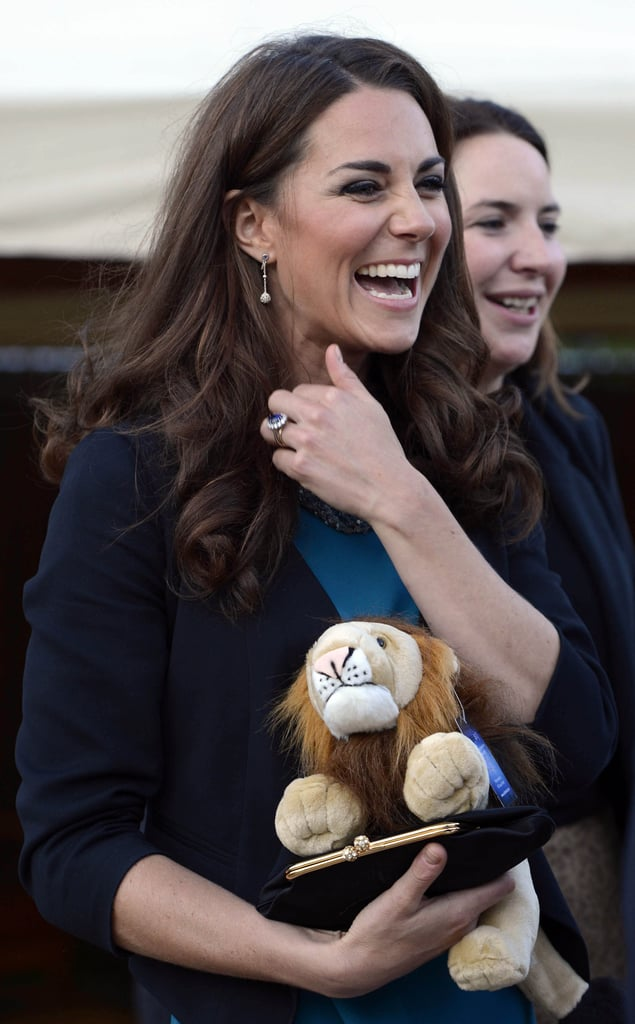 Kate Middleton smiled during a charity event.