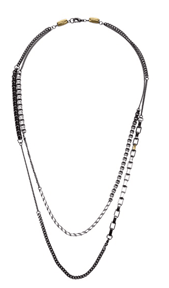 This Curiosity Box Double Chain Necklace ($160) does the hard work for you, so you don't even have to think about what necklaces to layer with it.