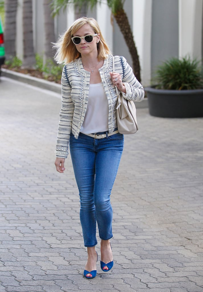 On Thursday, Reese Witherspoon ran errands in LA in jeans and a chic jacket.