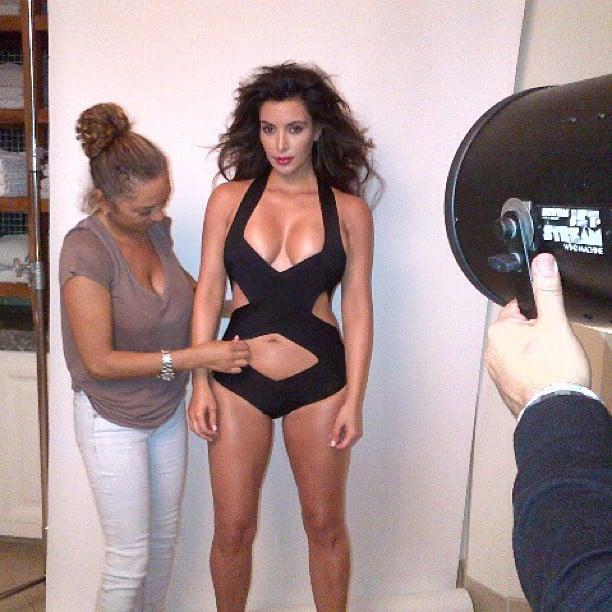 Kim gave fans a glimpse of her bikini body during a photo shoot in June 2012.  Source: Instagram user kimkardashian