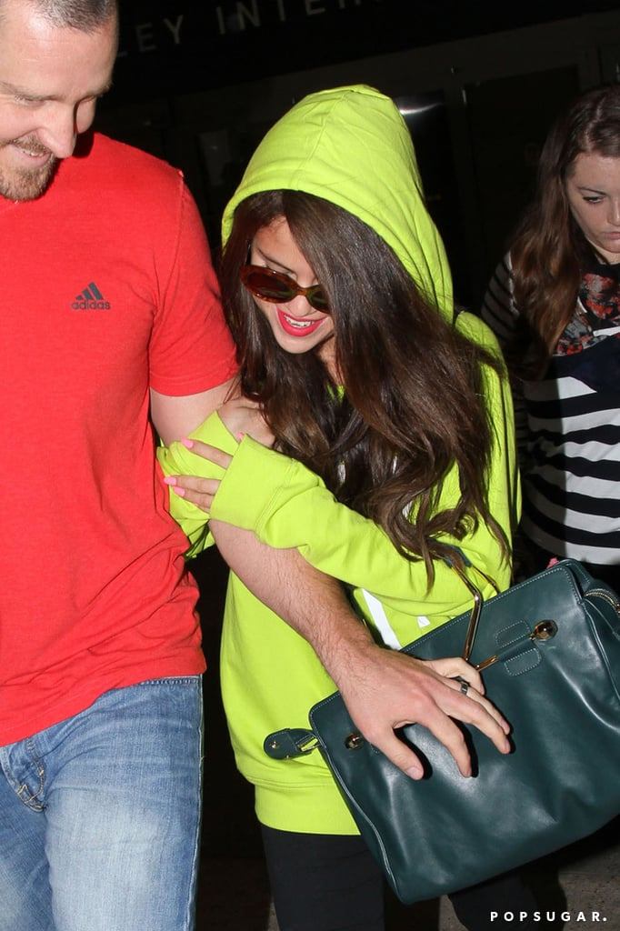 Selena Shares a Smile With Her Stepdad Following Big Justin News