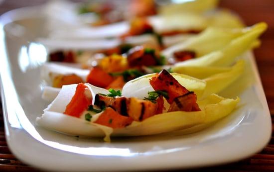 Sweet Potato and Bacon Endive Boats