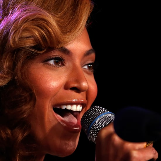 Beyonce Sings at Super Bowl Conference (Video)